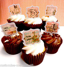 12 Alice in Wonderland Edible Pop Top Cupcake Toppers | Cake | decorations