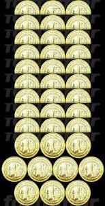 Turkey 1 Lira 2021 100 Year Awarding Veterans to Gaziantep 100 PCS Coin Bimetal