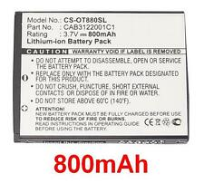 Batterie 800mAh type BY42 CAB3120000C1 Pour Alcatel One Touch 806