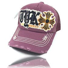 NEU Vintage Truckercap Snapback Cap Distressed bordeaux rot Baseball Kappe Mütze