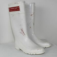 BURBERRY Ladies White Rubber Boots Size US EU 37/ US 7