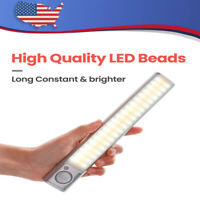 LED Motion Sensor Closet Light Wireless Night Cabinet USB Rechargeable Indoor UK