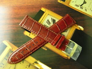 FREE SHIPPING! NEW OLD STOCK SEIKO 20MM CHESTNUT EMBOSSED LEATHER WATCH STRAP