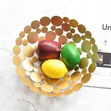 Decorative Modern Fruit Bowl Steel Basket Tray Minimalist Design