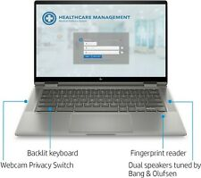"""HP 2-in-1 14"""" Touch-Screen Chromebook (i3 10th, 8G, 64G, Backlit) 14C-CA0053DX"""