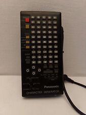 Panasonic Character Generator, télécommande, control, original, vintage, VW-CG2E