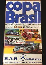 ORIGINAL COPA BRASIL INTERLAGOS 1972 RACE POSTER GULF PORSCHE 917K FITTIPALDI