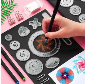 22 Pcs Spirograph Drawing Toy Set Wheel Painting Accessories Interlocking Gears
