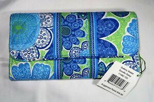 Vera Bradley DOODLE DAISY Gallery Wallet Trifold Clutch NWT