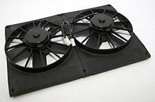 "Dual 11"" Electric Cooling Fans with Flow Thru Radiator Shroud 2800 CFM 23W x 16H"