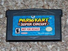 Mario Kart Super Circuit Game Boy Advance GBA Cartridge Not for Resale Version