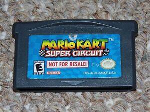 Mario Kart Super Circuit Game Boy Advance GBA Cartridge Not for Resale Version