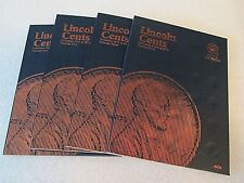 One set of Whitman Lincoln Cent Folders # 1,2,3 & 4 1909-2014---- #9004 - 4004