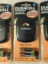 Duracell Rechargeable Quick Charger With Batteries 2- AA 2- AAA lot of 4 NEW
