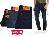 Original Levis 511 Mens Jeans Trousers Genuine Levi Slim Straight Denim Black