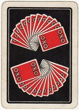 Playing Cards 1 Swap Card - Old Vintage Wide OXO Advertising FANNED GAME HAND