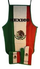 país de México Mexicano blanco verde rojo Barbacoa Delantal Cocinar Juego