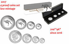 Australian Red Kangaroo 2017 Silver Proof Four-Coin Set in Presentation Case