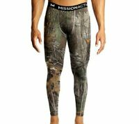 Mission Men's VaporActive Base Layer Compression Fit Tights, RealTree Camo, 3XL