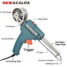 NEWACALOX США/ЕС паяльник горячего пистолета автоматическое отправить олово тепла пайки пистолет 110 220 В