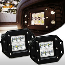 2Pcs Flood LED Cube Pods Work Light Flush Mount Offroad Truck Fog Lights