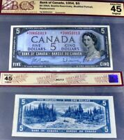 1954 *N/X REPLACEMENT / STAR BANK OF CANADA $5   GRADED  EF