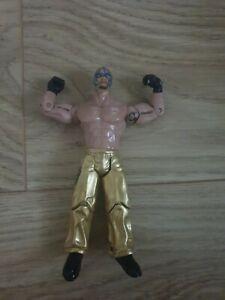 Rey Mysterio WWE 2003 Jakks Figure   Gold Trunks