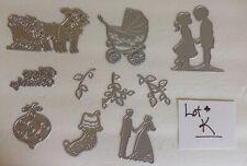New listing Lot#K New 10 Dies Mixed Collection Cardmaker junk journal scrapbook paper crafts