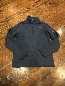 Patagonia Boy's Better Sweater 1/4 Zip Pullover L 12