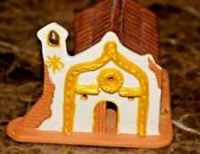Adobe Style Church Signed by artist Frances Clay Art Figure From Venezuela 1992