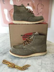 RED WING 6 inch Moc Toe Mohave Suede Sage - Code 8139 - Size US 9D