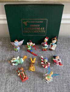 Disney Collection Christmas Ornaments Dumbo Pluto Peter Pan Goofy Tink w/ Box