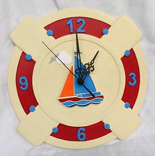 Sailboat Wall Clock - Large Yacht Wall Clock - BNIB