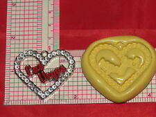 Las Vegas Heart Silicone Mold #115 For Chocolate Candy Resin Fimo Craft