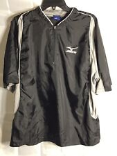 Mizuno Sz L Baseball Golf Short Sleeve Black 1/4 Zip Pullover Jacket Windbreaker