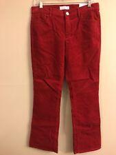 NWT Ann Taylor LOFT Flare Crop Corduroy Pants Sz 6 Rustic Red Stretch
