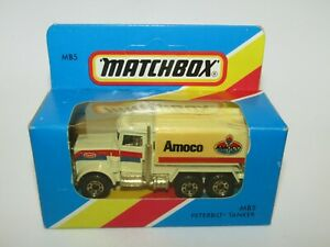 Matchbox Superfast MB-5 Peterbilt Tanker Amoco Chrome Pipes MIB