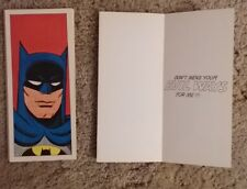 1 Vintage 1966 Hallmark Batman Cards never used *PLEASE READ DESCRIPTION