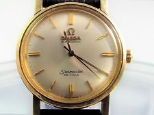 Vintage 1960s Omega Seamaster De Ville Automatic14k Gold Filled Watch