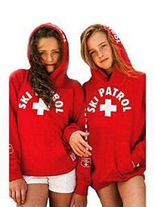 Ski Patrol Kids Hoodie Sweatshirt Red, Small