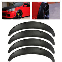 Black 4x Universal Car  Body Fender Flares Flexible Durable Polyurethane Size M