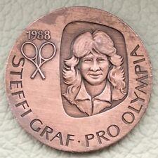 Medaille * Steffi Graf • Pro Olympia • Tennis Wieder Olympisch • Seoul 1988 *