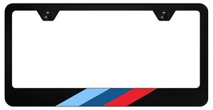 M-Stripe Black License Plate Frame for Euro BMW, 304 Stainless Steel