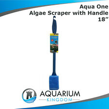 "Aqua One Algae Scraper with Handle 18"" - Aquarium Cleaner Scrub Clean Glass Tank"