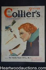 """Collier's Jan 12, 1935 """"The Smoky Years"""" Part 1 by Alan Lemay, Coca-Cola ad"""