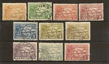 NEW GUINEA 1925-27 HUT TO 2/- SG125/33 FINE USED