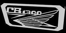 """cache / Grille de radiateur inox poli Honda CB1300 """"Wing"""""""