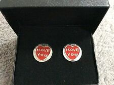 """BRAND NEW PAIR OF CUFFLINKS WITH """"I LOVE YOU"""" ON THEM - BNWT"""