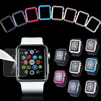 38/42mm Bumper Case + Screen Protector Film for Apple Watch iWatch Series 3 /2/1