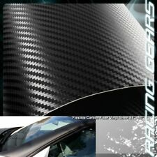 "For Mazda Toyota 84"" x 50"" Flexible Carbon Fiber Vinyl Film Wrap Roll Sheet Deca"